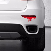 Etiqueta engomada del coche reflexivo calcomanías ventana para mazda luz trasera kia BMW volkswagen golf peugeot 1 unid sangre fría