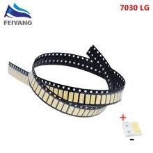1000 個 LG イノテック YPNL LED LED バックライト 1 ワット 7030 6 12v クールホワイト Tv アプリケーション smd 7030 led コールドホワイト 100 110lm 7.0*3.0*0.8 ミリメートル
