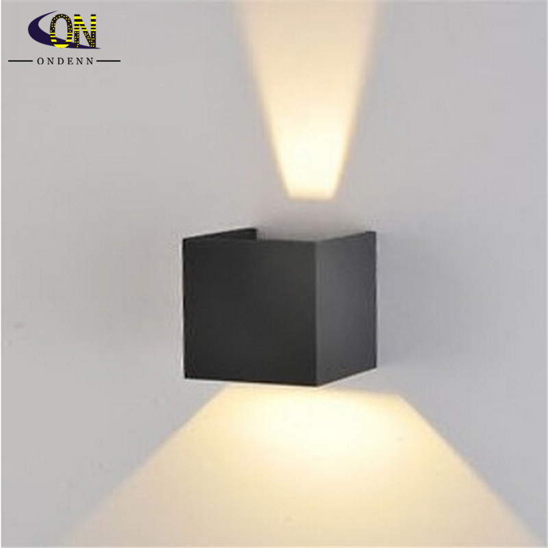 Ip65 Cube Adjule Surface Mounted Outdoor Led Lighting Wall Light Up Down Lamp Ac85 265v Free Shipping