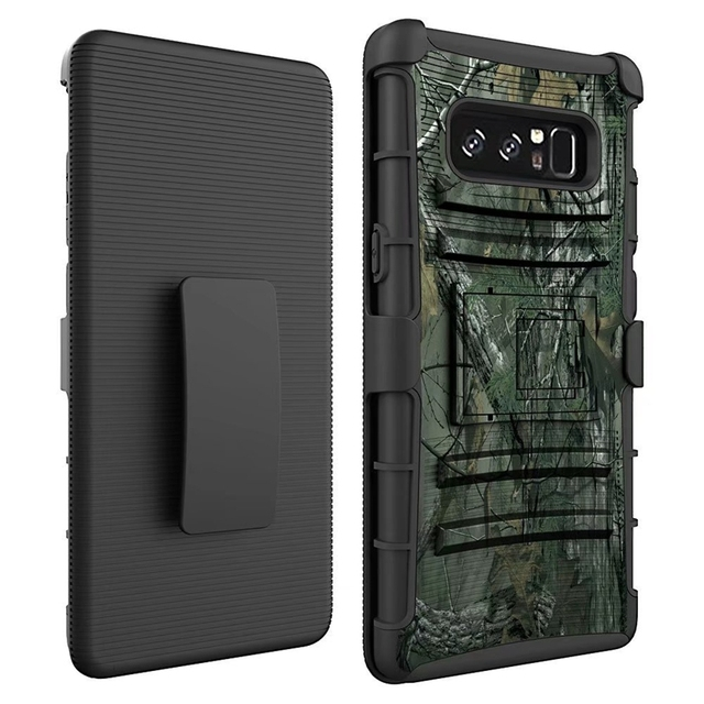 """For Samsung Galaxy Note 8 6.3"""" Case Hybrid Heavy Duty 3 in 1 Military Camo Hard Shockproof Case Note8 Belt Clip Stand Cover Case"""