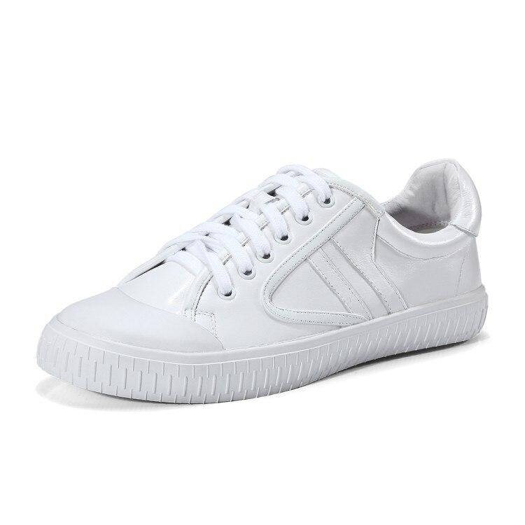 {zorssar} Casuales De Blanco Mujeres Mujer 2018 Nuevo Cómodo Zapatos Deporte Cuero Planos Alta Calzado Vaca Calidad Las Zapatillas Genuino rCrqTH