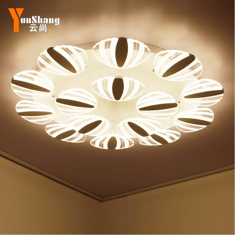 Living Room Lamp Ceiling Lamp Simple and Modern Lamp Round Creative Mediterranean Sea Shell Warm Romantic Bedroom led ceiling la