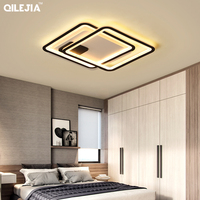 Remote Control Chandeliers For Living Room led Indoor Lamp Large Square frames Hanging Lighting Fixtures Chandeliers lustre