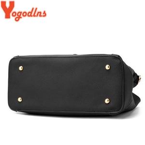 Image 5 - Yogodlns Women Bag Vintage Handbag Casual Tote Fashion Women Messenger Bags Shoulder Top Handle Purse Wallet Leather 2020 New