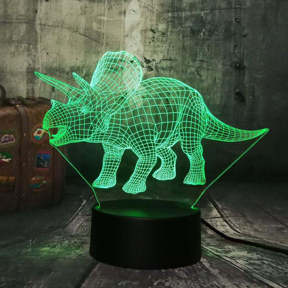 New Dinosaur Jurassic World Triceratops 3D LED Night Light Desk Sleep Lamp Creative Kids Toy Bedroom Home Decor Christmas GiftNew Dinosaur Jurassic World Triceratops 3D LED Night Light Desk Sleep Lamp Creative Kids Toy Bedroom Home Decor Christmas Gift