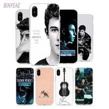 BINYEAE Shawn Mendes 98 Style Clear Soft TPU Phone Cases for Apple iPhone X 8 7 6 6s Plus 5 5S SE 5C