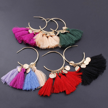 KLEEDER Drop Earrings  2019 Bohemian Ethnic Sequins Tassel for Women Fashion Jewelry Dreamatcher Boho Wedding Earring oorbellen