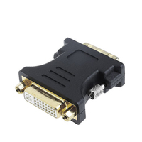 1Pc DVI-D 24+1 Male to DVI-I 24+5 Pin Female DVI Adapter Converter Connector Office & School Supplies