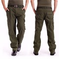Men's Cargo Pants Millitary Clothing Tactical Pants Outdoor Camo Workwear causal Multi-Pockets Loose Full Length Trousers