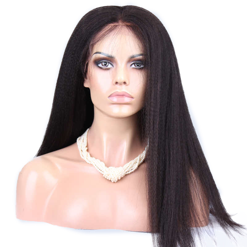 250% Density Lace Front Human Hair Wigs For Women Natural Black Italian Yaki Brazilian Lace Frontal Wig Remy Hair Prosa