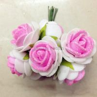 2 5 CM Mini Artificial Flowers Bouquet Diy Craft Foam Rose Flower Garland For Wedding Party