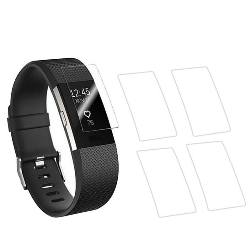 5pieces Anti-scratch Ultra Thin HD Clear Protective Film Guard For Fitbit Charge 2 Charge2 Wristband Full Screen Protector Cover protective clear screen protector guard film with cleaning cloth for iphone 4 4s