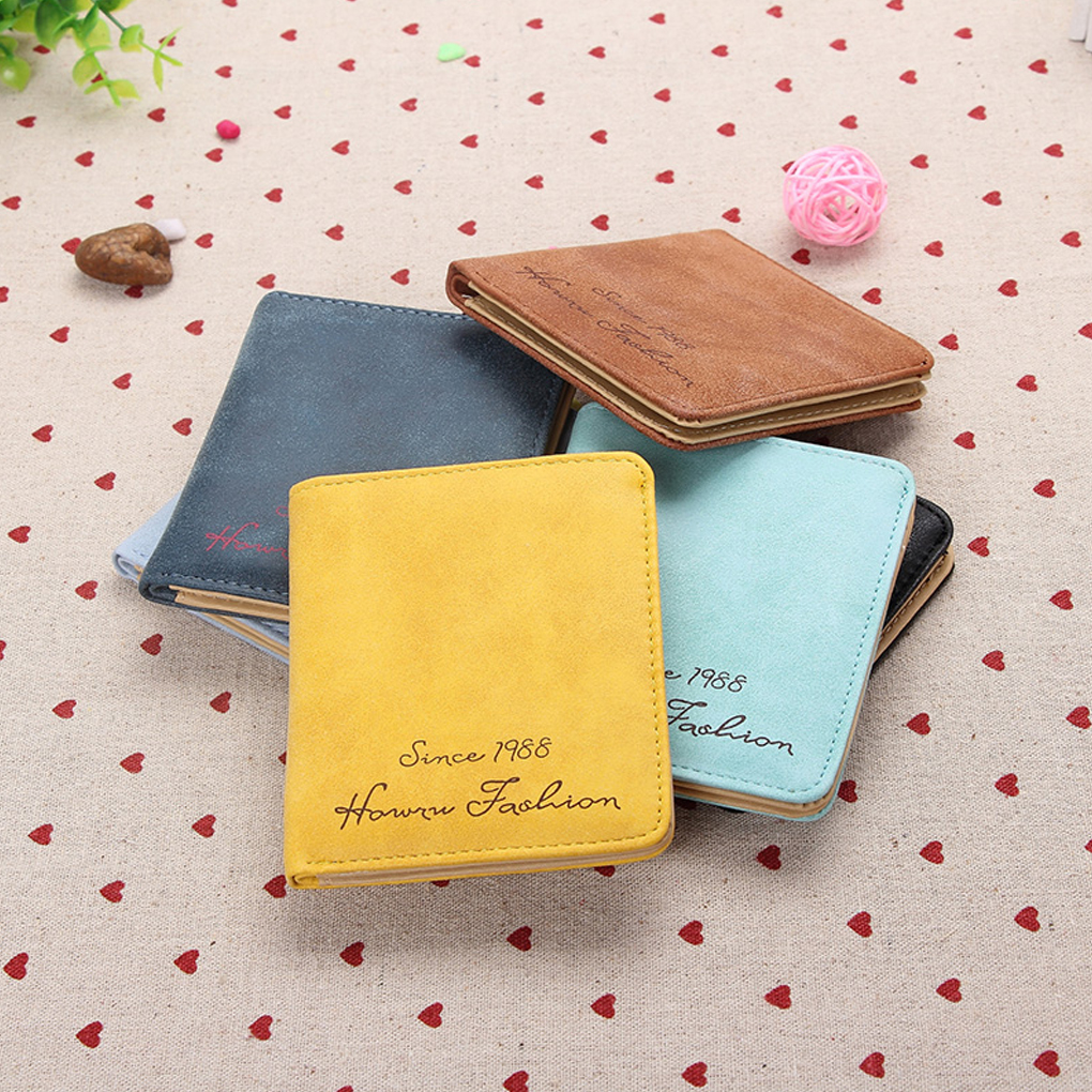 Cute Women Girl Wallets Card Wallet Pouch Synthetic Leather Cover Case