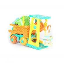 9 Pieces Beach Sand Outdoor Toys For Children Mini Engineering Vehicle Toy Set with Mesh Bag for Kids - Color Random(China)
