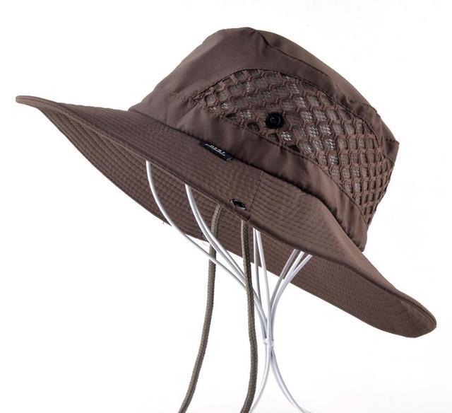Brown Beach hat 5c64fdf9368f5