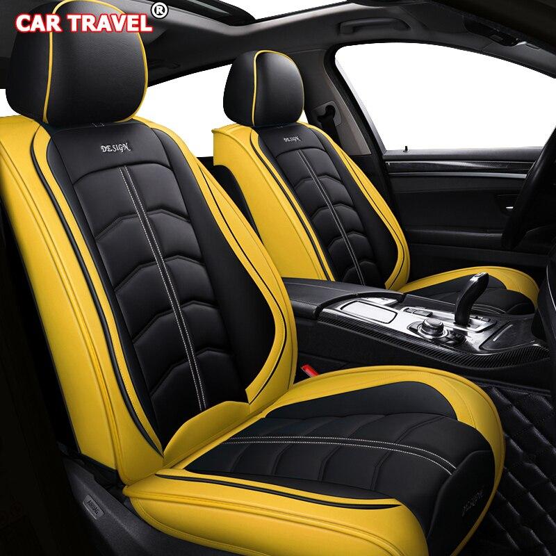 Housse de siège de voiture en cuir de luxe avant arrière pour volkswagen gol ford galaxy peugeot 107 lifan solano lexus is250 geely boyue ensemble de voiture