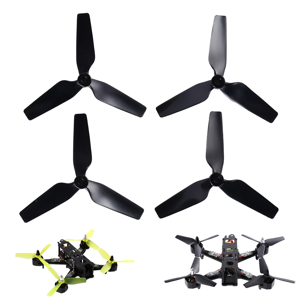 4pcs T5045 Bull Nose 3-Blade Tri-blade Carbon Fiber Props Propellers CCW CW for QAV250 RC FPV Drone Racing Quadcopter (2 pair) 2pairs 6030 6 3 carbon fiber 3 blade propeller prop cw ccw for qav250 280 multirotor quadcopter rc drone