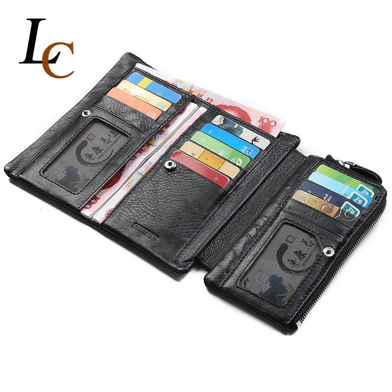 Long Genuine Leather Wallet for Men Hight Quality Soft Brand Clutch Zipper Mens Wallet Fashion Leather
