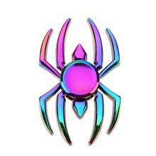 รูปร่างแมงมุมอยู่ไม่สุขปินเนอร์โลหะล้อแม็กมือปั่นTri Spinerสำหรับออทิสติกและสมาธิสั้นต่อต้านความเครียดบรรเทานิ้วอยู่ไม่สุขของเล่น