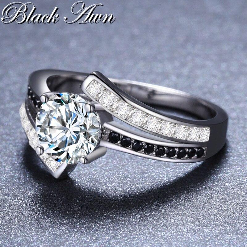 BLACK AWN 3.9g Classic 925 Sterling Silver Smycken Row Svart & Vitt - Fina smycken - Foto 4