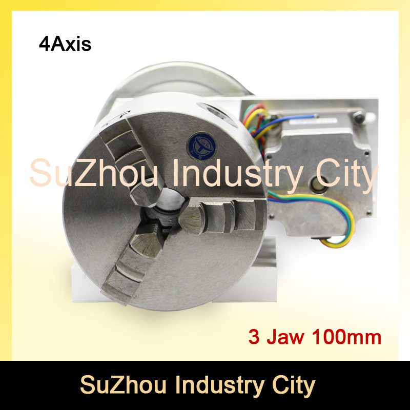 3 Jaw 100mm chuck CNC 4th Axis CNC dividing head/Rotation 6:1 A axis for Mini CNC router/engraver woodworking engraving machine cnc 5 axis a aixs rotary axis three jaw chuck type for cnc router