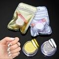 Belen Espejo Mágico Polvo de Cromo Metálico Oro Plata Nail Powder Con Esponja de Maquillaje Stick Polvo Pigmento Del Arte Del Clavo DIY Glitters