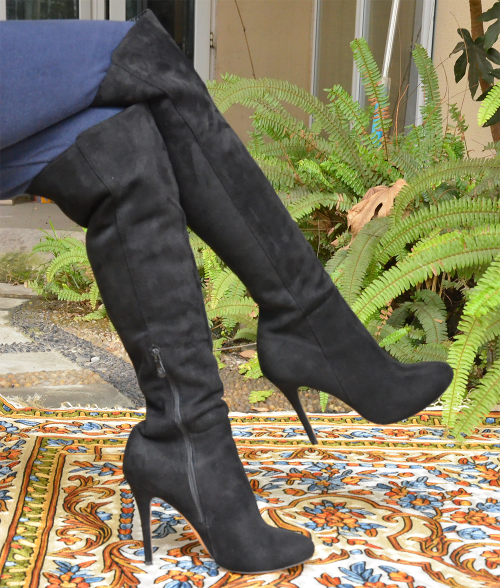 Shofoo Free Shipping Women's Black Over-The-Knee High Thin Heels Pointed Toe Winter  Boots  With Side Zipper ,Large Size 5-16 цены онлайн