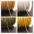 New factory price 10 Meters 1mm 4 Colors Finsh Metal Brass Tiny Curb Chain Necklace Jewelry Findings in Bulk