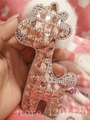 Crystal deer fur Handmade Keychains Keyring bag charm Key Chains Ring Holder Souvenir women handbag Jewelry