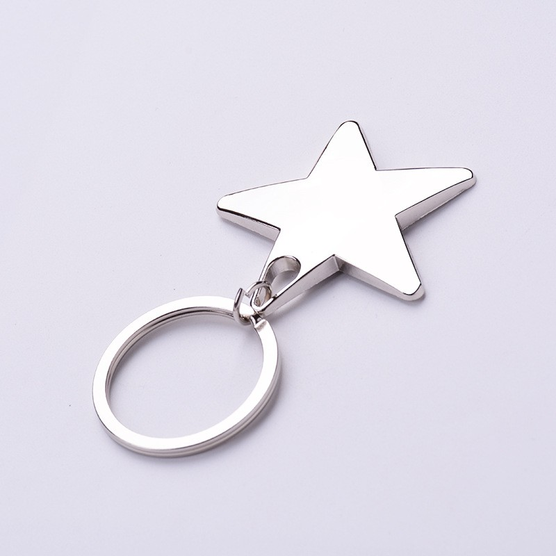 1 Piece Star Keychain Keyring Zinc Alloy Star Shaped Keychains Metal Keyrings Five Pointed Star Shaped Key Chain