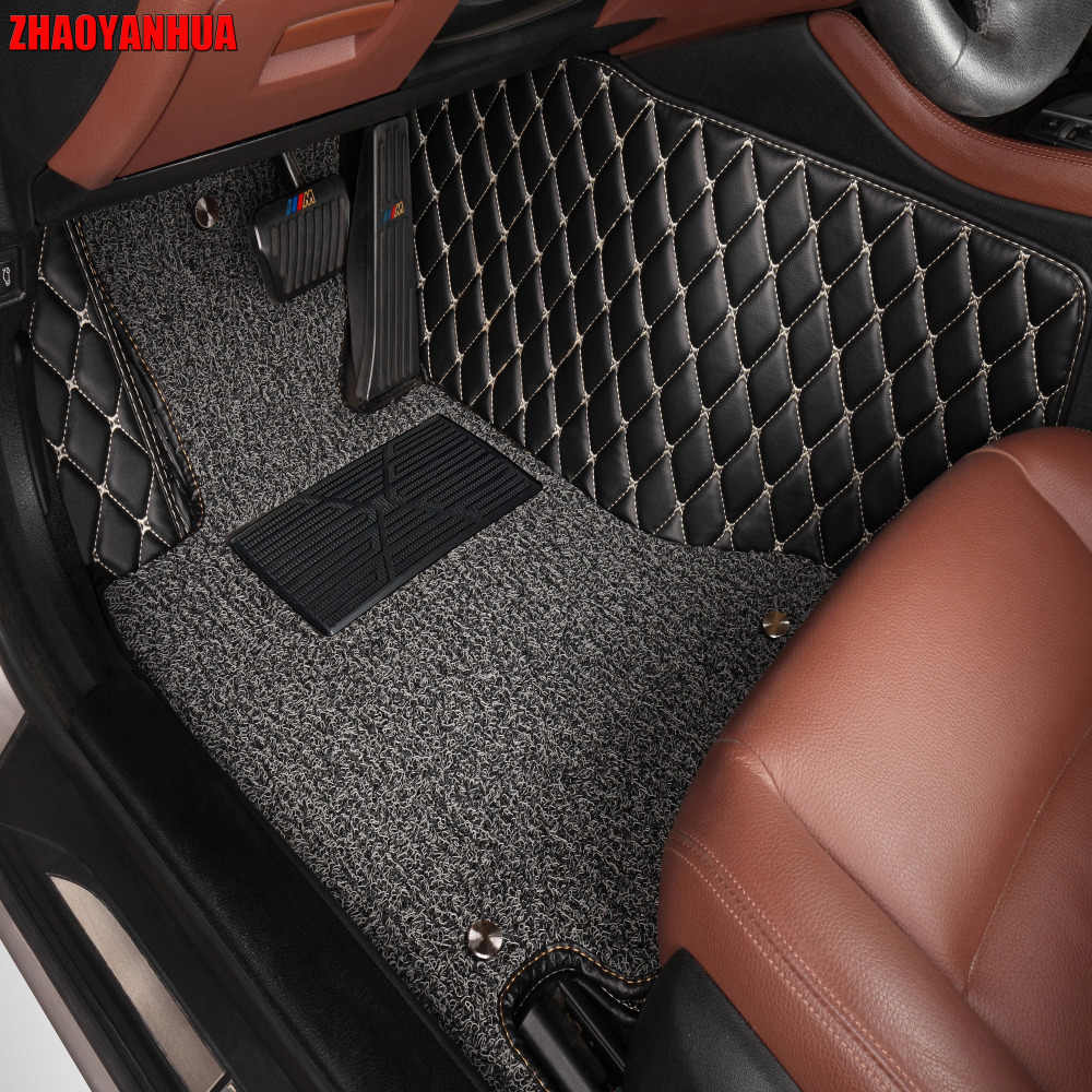 Zhaoyanhua الحصير سيارة لكيا سبورتاج أوبتيما k5 سورنتو كارينز 5d كامل غطاء حالة السيارات التصميم جودة عالية السجاد بطانات