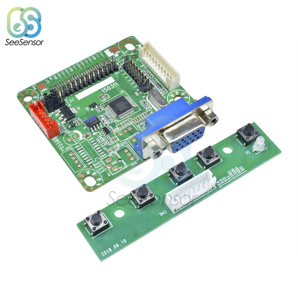 "MT6820-B Universal LCD Layar Monitor Driver Controller Board LVDS Kabel Ekspansi Papan Modul UNTUK ARDUINO dengan Kawat 5V 10 ""-42"""