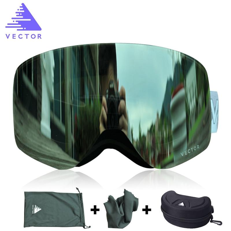 VECTOR Brand Ski Goggles Double Lens UV400 Anti-fog Ski Snow Glasses Skiing Men Women Winter Snowboard Goggles HB108 gorros de baño con flores