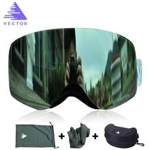VECTOR Brand Ski Goggles Double Lens UV400 Anti-fog Snow Glasses Skiing Men Women Winter Snowboard HB108