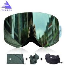 OTG Ski Goggles UV400 Snow Glasses &Case Men Women Anti-