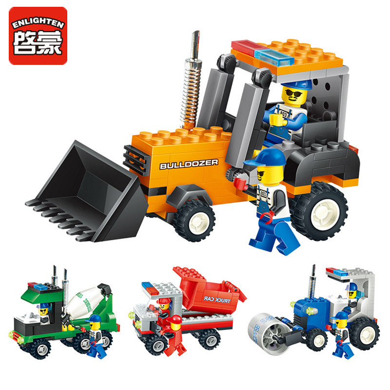 2017 Hot Engineering Vehicle Truck Model Building Blocks Toys for Children Self-Locking Bricks Kit Toy Set Kids Educational Gift