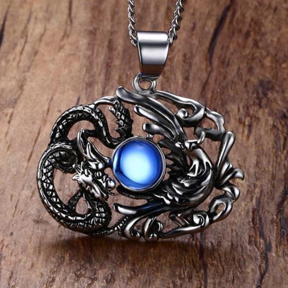 Amuleto de Ojo de Dragón chino / Fuerza y Valentía