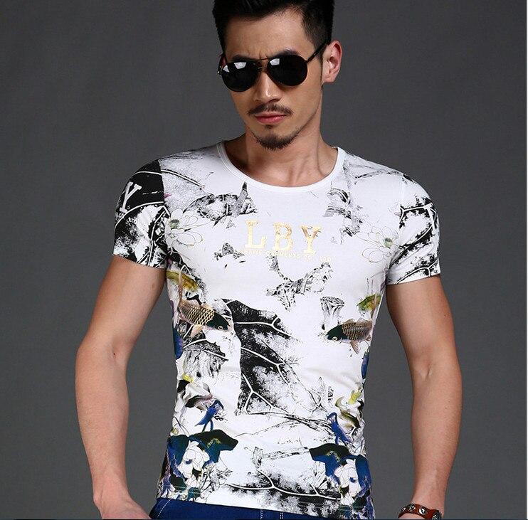 TBAIYE 2019 Rahat Lüks Pamuk Erkekler T-Shirt Marka Ince Kısa Kollu - Erkek Giyim - Fotoğraf 3
