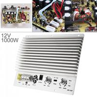 1000W Class AB Digital 2 Channel Aluminum Alloy Silver Car Audio AMP Subwoofer Amplifier Universal Auto Audio Power Amplifier