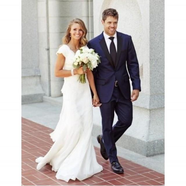 Frete Grátis Custom Made Azul Escuro Gravata Slim Fit Homens Terno Terno de Duas Peças Ternos de Casamento Para Os Homens (Jaqueta + calças) Venda Quente