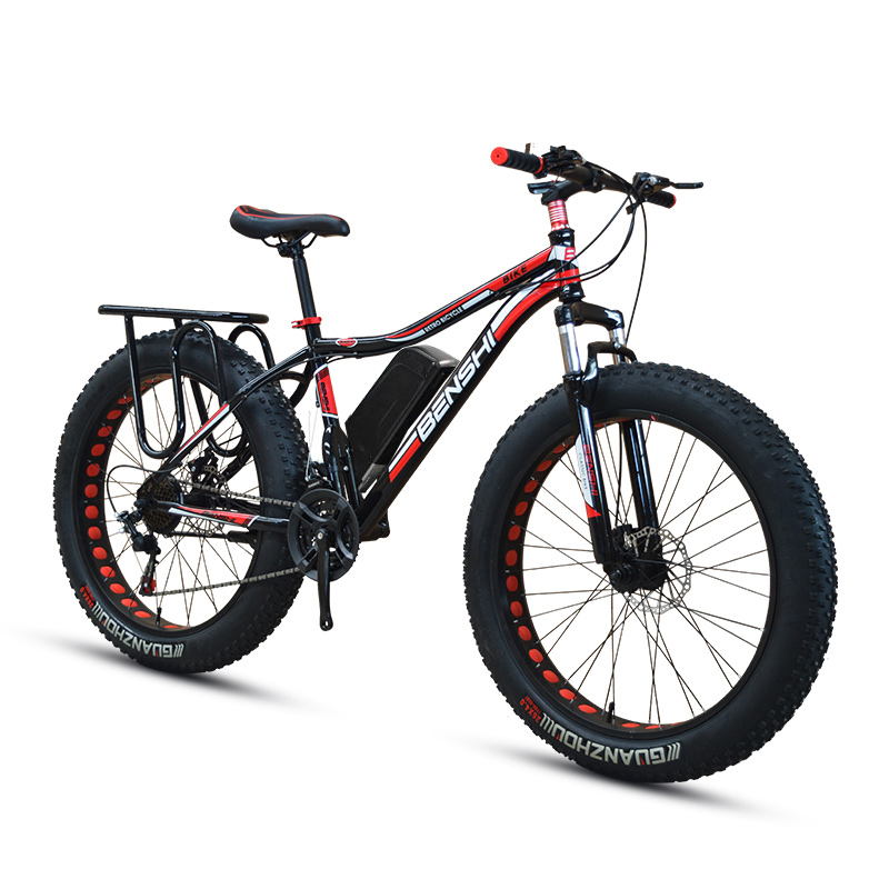 26inch snow electric mountain bicycle 48V lithium battery 1500w motor fat ebike 4.0 tires MTB electric bike