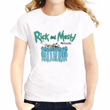 rick and morty funny t shirts women jollypeach 2017 summer new casual tee shirt femme comfortable tshirt rick&morty t-shirts