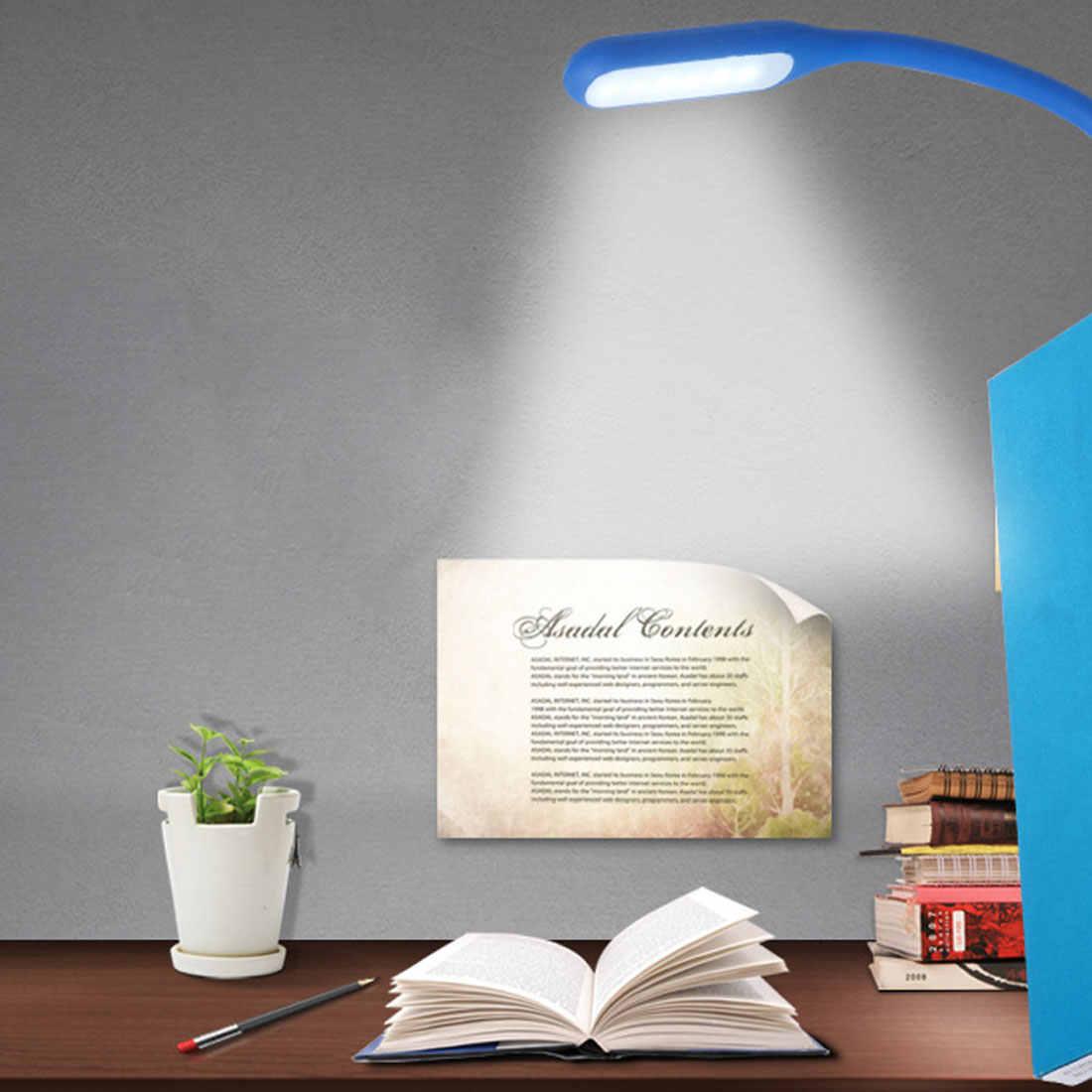 Светильник для чтения, книжный светильник, мини USB светодиодный светильник, 5 В, 1,2 Вт, внешний аккумулятор для ноутбука, портативный светодиодный светильник, USB ночник, s
