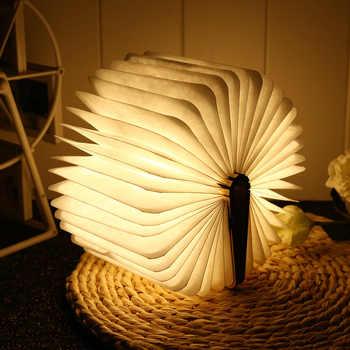 LightMe Rechargeable Book Lamp Folding Mini Table Light Warm Night Light LED Wooden USB Desk Night Lamp Bedroom Decor Lighting - DISCOUNT ITEM  30% OFF All Category