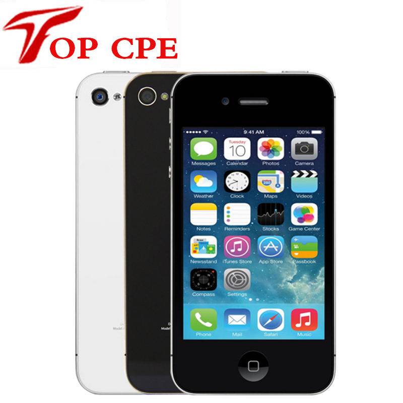 "Original Factory Unlocked Apple Iphone 4S phone 8GB/16gb/32gb/64gb  3.5"" 8MP Camera Dual Core GSM WCDMA WIFI Used mobile phone"