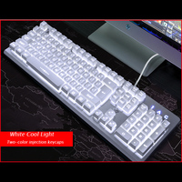 Wired Gaming keyboard RGB Backlit Keyboard Mechanical feeling Smart Voice Control Keyboard PC gamer Overwatch