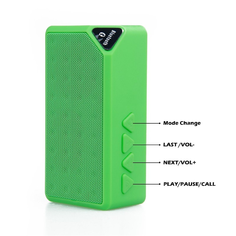 Bluetooth Speakers Wireless Bluetooth Speaker Mini Portable Magic Cube Bluetooth Speaker Bass blue normal 9