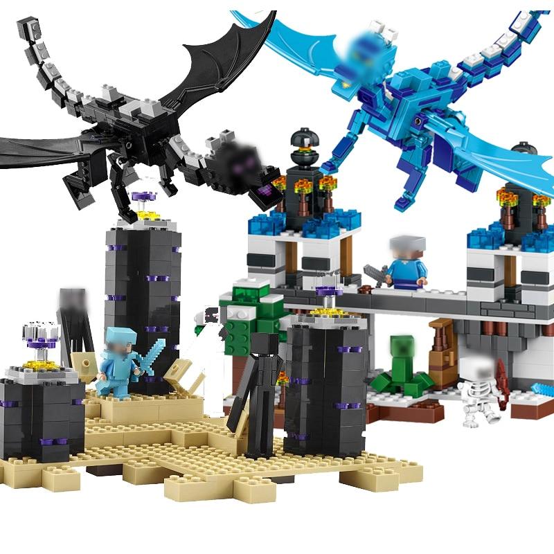 79180 406Pcs Dinosaur Building Blocks Kits Jurassic Figures Blocks Bricks Set Toys For Children Compatible With Legoe Dinosaurs mixed print colorblock knot back halter dress