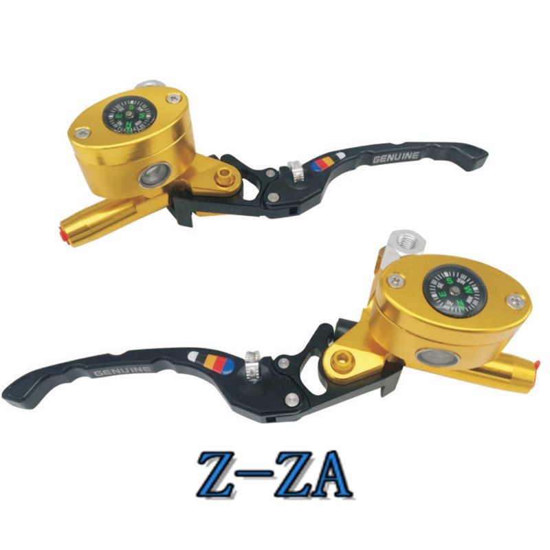 CNC Aluminum 22mm Motorcycle Brake Double clutch oval compass Master Cylinder Reservoir Hydraulic Lever For 50CC - 300CC Z-ZA
