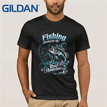 T-Shirt Fishinger Fooked For Life Red Ad